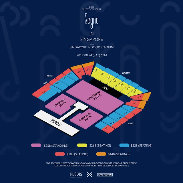 nuest segno tour in singapore seating plan