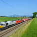 247 045 + 185 300 am 26.06.2019 als 50866 Freilassing - Rosenheim in Hörafing