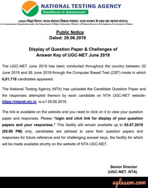 UGC NET Drama / Theatre Answer Key 2019 - Download Here for Jun Exam