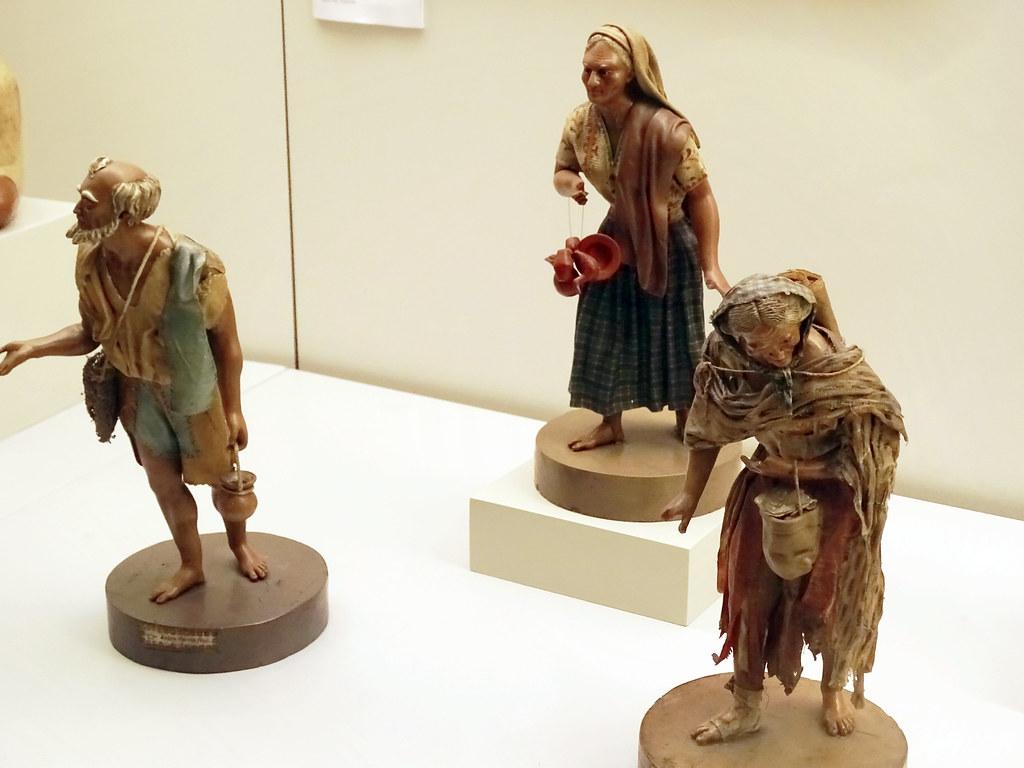 figura escultura de cera 1850 Andres Garcia Mexico Museo de America Madrid