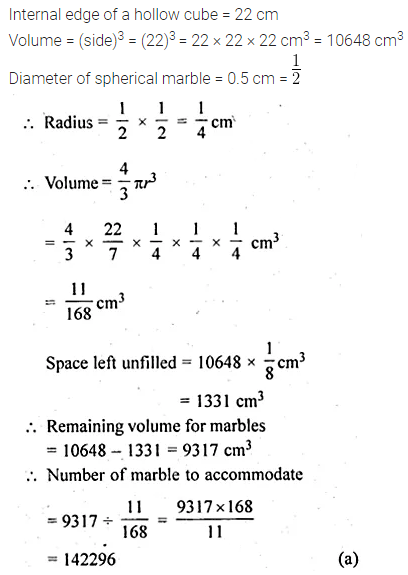 ML Aggarwal Class 10 Solutions for ICSE Maths Chapter 17 Mensuration MCQS Q31