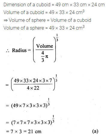ML Aggarwal Class 10 Solutions for ICSE Maths Chapter 17 Mensuration MCQS Q24