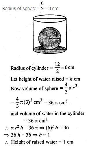 ML Aggarwal Class 10 Solutions for ICSE Maths Chapter 17 Mensuration Chapter Test Q22