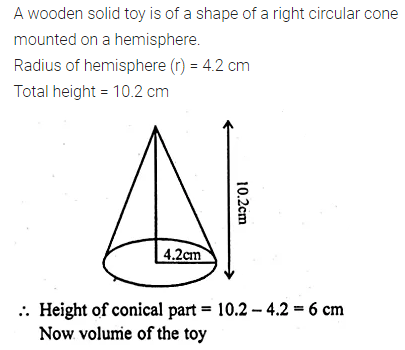ML Aggarwal Class 10 Solutions for ICSE Maths Chapter 17 Mensuration Chapter Test Q7