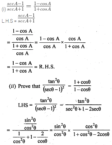 ML Aggarwal Class 10 Solutions for ICSE Maths Chapter 18 Trigonometric Identities Ex 18 Q16
