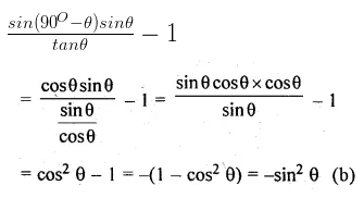 ML Aggarwal Class 10 Solutions for ICSE Maths Chapter 18 Trigonometric Identities MCQS Q12
