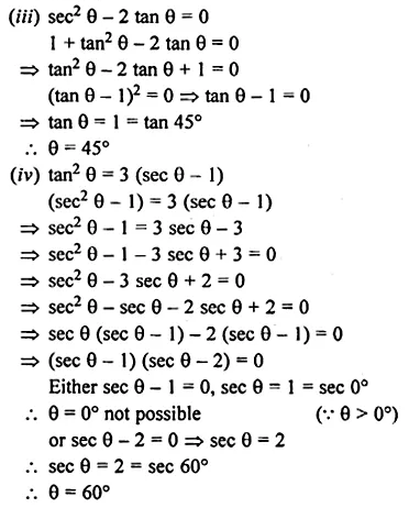 ML Aggarwal Class 10 Solutions for ICSE Maths Chapter 18 Trigonometric Identities Chapter Test Q16.1
