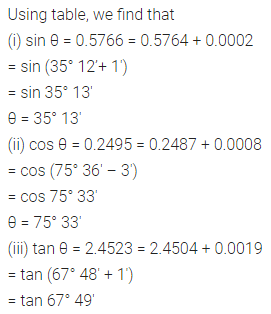 ML Aggarwal Class 10 Solutions for ICSE Maths Chapter 19 Trigonometric Tables Chapter Test Q2