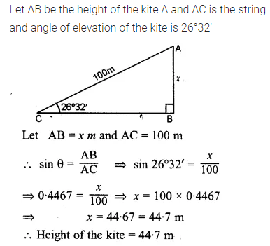 ML Aggarwal Class 10 Solutions for ICSE Maths Chapter 20 Heights and Distances Ex 20 Q8