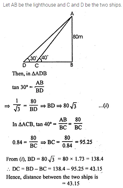 ML Aggarwal Class 10 Solutions for ICSE Maths Chapter 20 Heights and Distances Ex 20 Q26