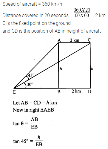 ML Aggarwal Class 10 Solutions for ICSE Maths Chapter 20 Heights and Distances Ex 20 Q38