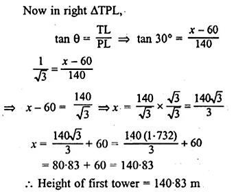ML Aggarwal Class 10 Solutions for ICSE Maths Chapter 20 Heights and Distances Ex 20 Q25.1