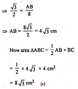 ML Aggarwal Class 10 Solutions for ICSE Maths Chapter 20 Heights and Distances MCQS Q9.1