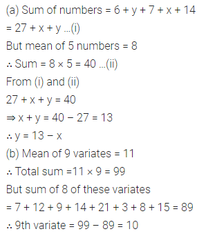 ML Aggarwal Class 10 Solutions for ICSE Maths Chapter 21 Measures of Central Tendency Ex 21.1 Q3