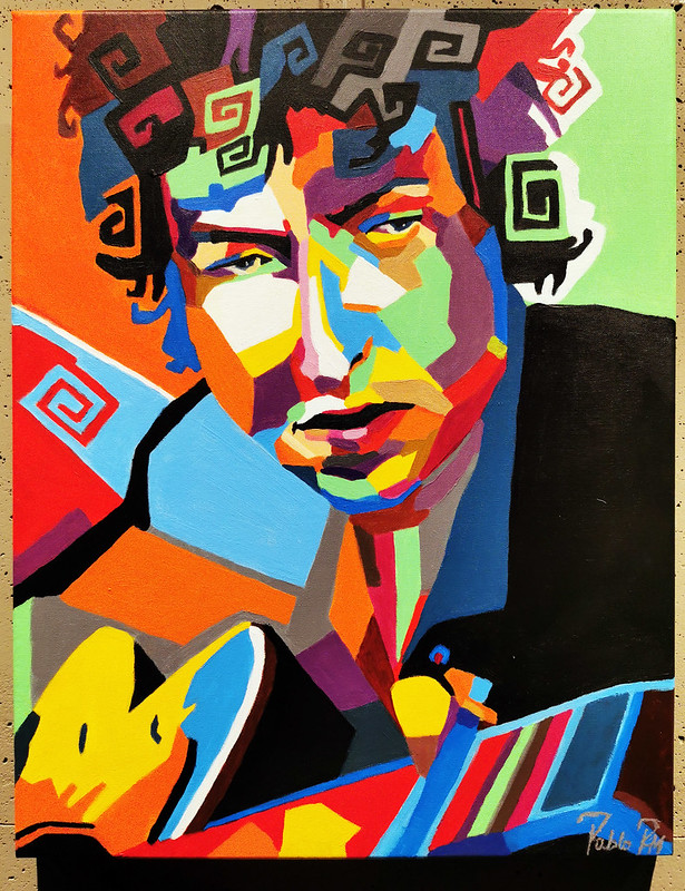 Bob Dylan Exposición Pinturas Pablo Roma Colours And Rock Roll Ambito Cultural El Corte Ingles Julio 2019