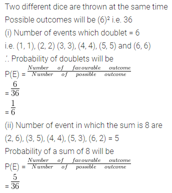 ML Aggarwal Class 10 Solutions Chapter 22 Probability Ex 22 Q41