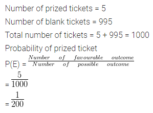 ML Aggarwal Class 10 Solutions Chapter 22 Probability Ex 22 Q3
