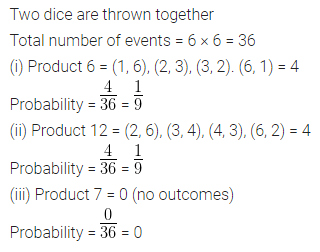 ML Aggarwal Class 10 Solutions for ICSE Maths Chapter 22 Probability Chapter Test Q17