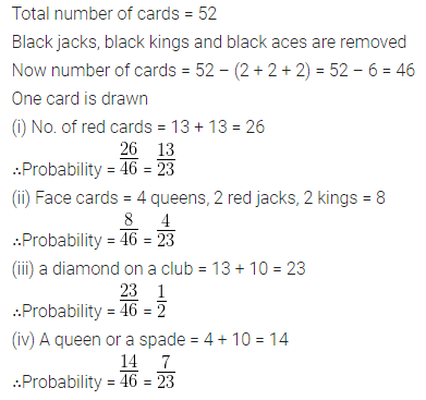 Understanding Mathematics Class 10 Solutions Chapter 22 Probability Chapter Test Q15