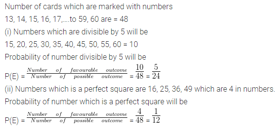 ML Aggarwal Class 10 Solutions for ICSE Maths Chapter 22 Probability Chapter Test Q10