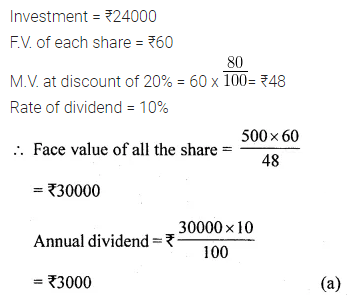 ML Aggarwal Class 10 Solutions for ICSE Maths Chapter 3 Shares and