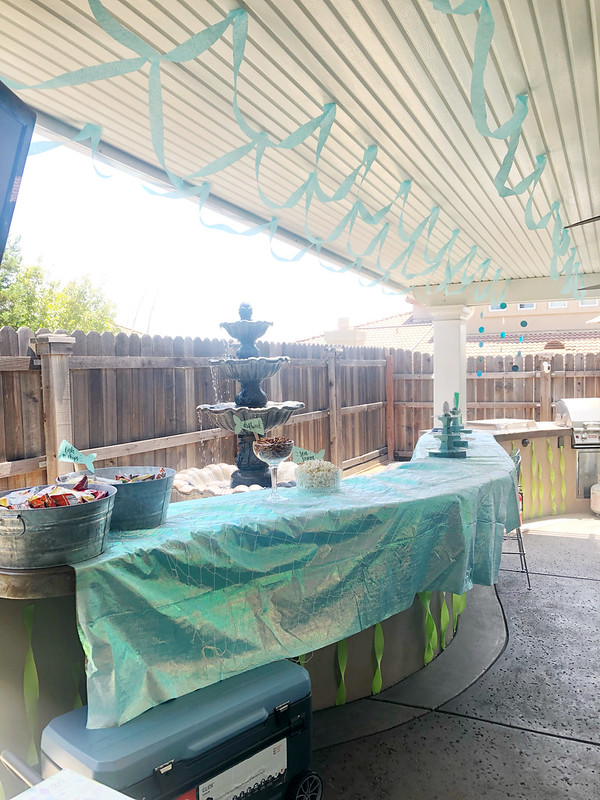 Setting up for the baby shower