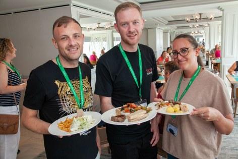 Saga Spirit of Discovery VIP Trade Event 2-4 July 2019 - Colin Pennington, Scott Tyrer, Kirsty Mitchell, all Hays Travel