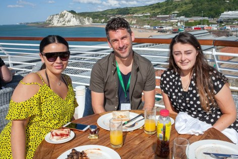 Saga Spirit of Discovery VIP Trade Event 2-4 July 2019 - Leah Davies, Gary Smout, Gayna Eeles, all Hays Travel NW