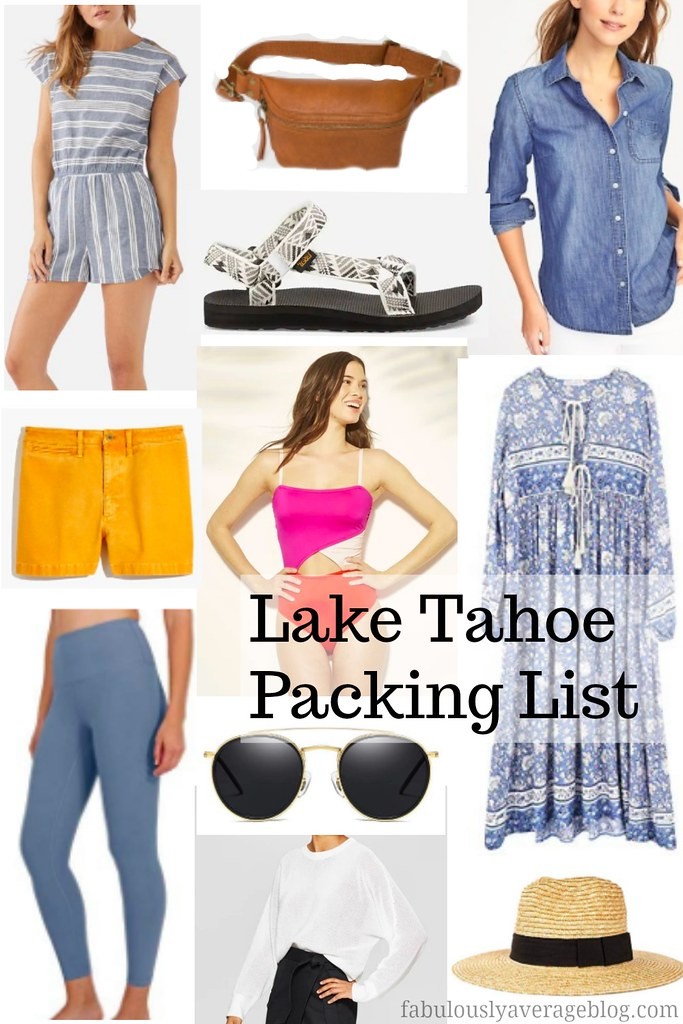 Lake Tahoe packing list