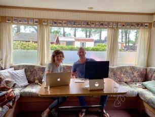 Samen met Rianne werken aan haar website