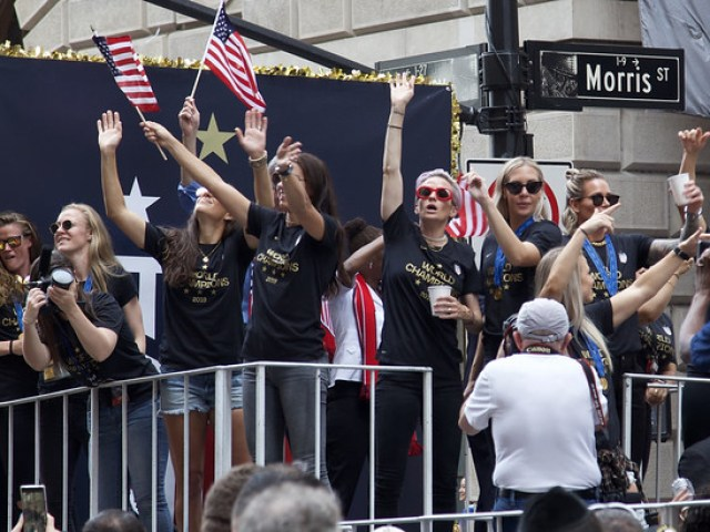 Ticker-Tape Parade for U.S. Women