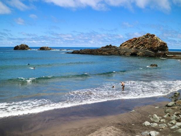 Playa del Roque de las Bodegas en Anaga