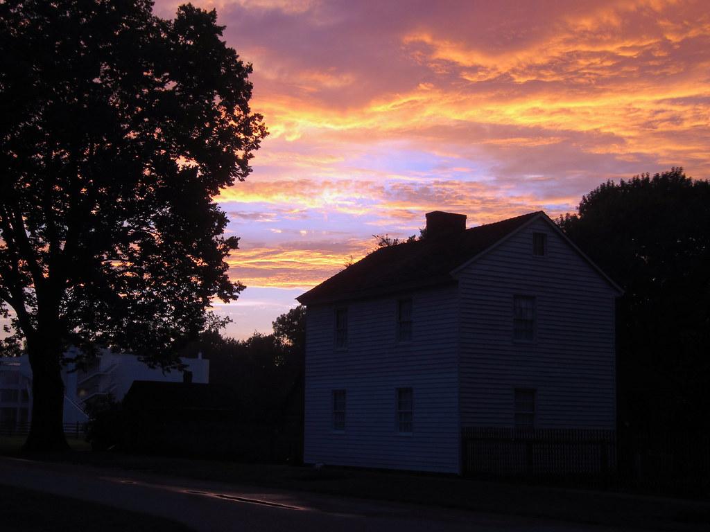 Sunset over the Lenz House