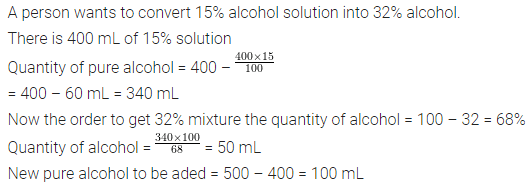 ML Aggarwal Class 7 Solutions for ICSE Maths Chapter 7 Percentage and Its Applications Objective Type Questions HOTS 1