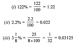 ML Aggarwal Class 7 Solutions for ICSE Maths Chapter 7 Percentage and Its Applications Check Your Progress Q3