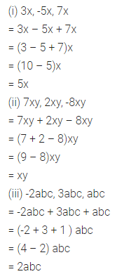 ML Aggarwal Class 7 Solutions for ICSE Maths Chapter 8 Algebraic Expressions Ex 8.2 Q2