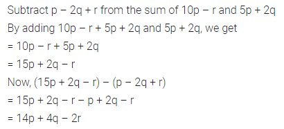 ML Aggarwal Class 7 Solutions for ICSE Maths Chapter 8 Algebraic Expressions Ex 8.2 Q7