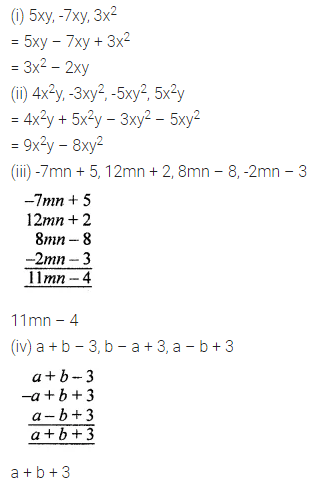ML Aggarwal Class 7 Solutions for ICSE Maths Chapter 8 Algebraic Expressions Ex 8.2 Q4