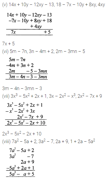 ML Aggarwal Class 7 Solutions for ICSE Maths Chapter 8 Algebraic Expressions Ex 8.2 Q4.1
