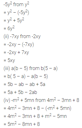 ML Aggarwal Class 7 Solutions for ICSE Maths Chapter 8 Algebraic Expressions Ex 8.2 Q6