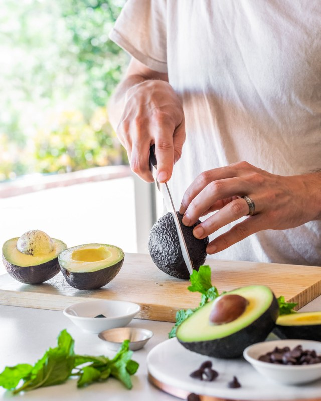 select avocados that are firm, but give slightly when squeezed