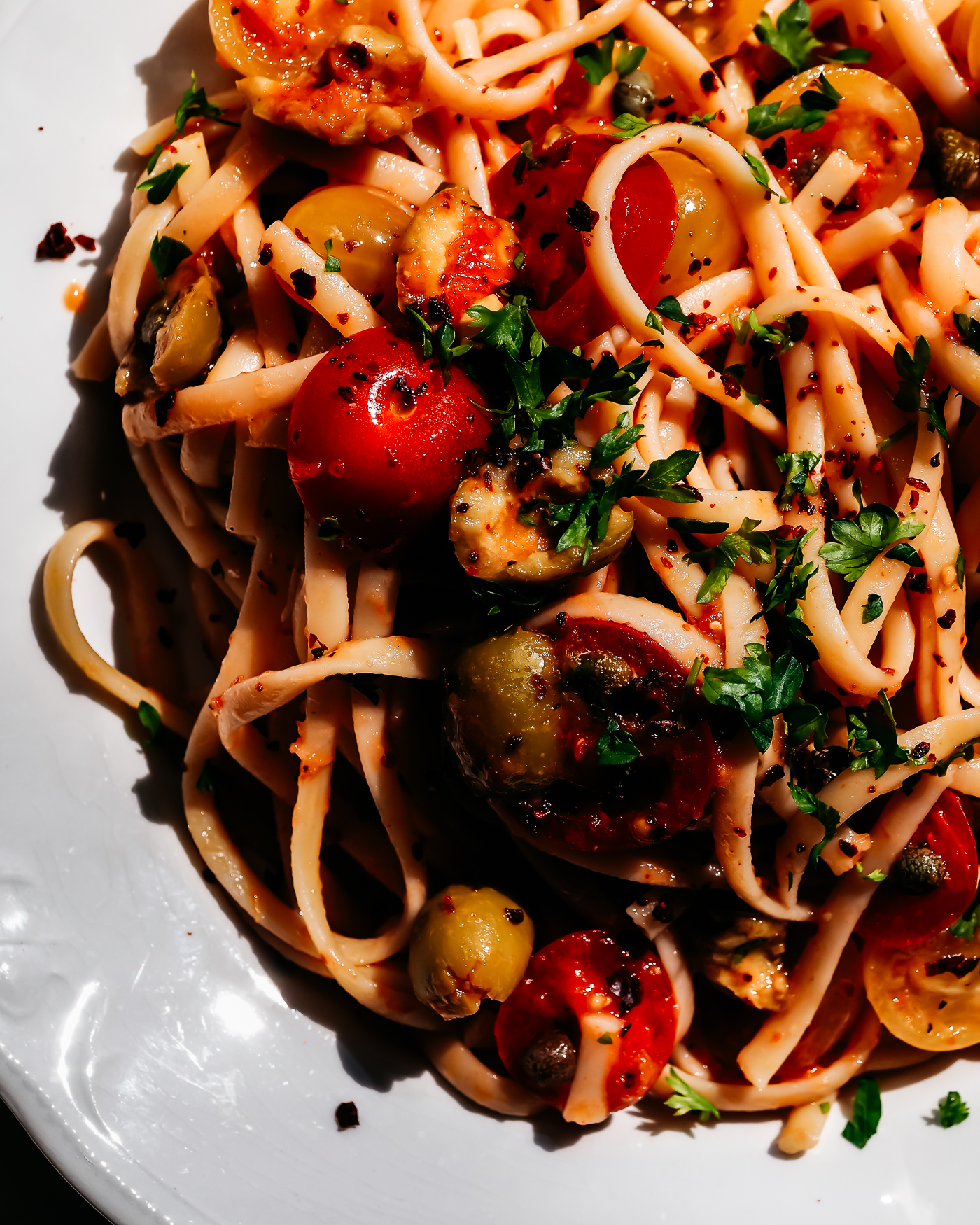 tuore tomaatti pasta