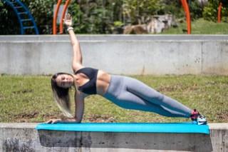 Girl Exercising Side plank
