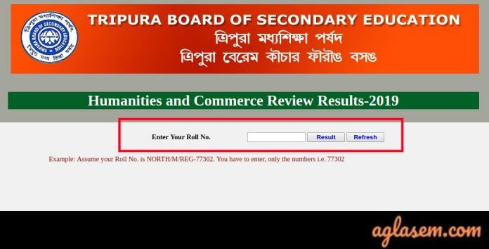 TBSE 12th Commerce Result