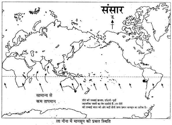 RBSE Solutions for Class 11 Indian Geography Chapter 7 भारत का मानसून तंत्र 2