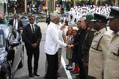 President Granger greets Hon. Dr. George Norton