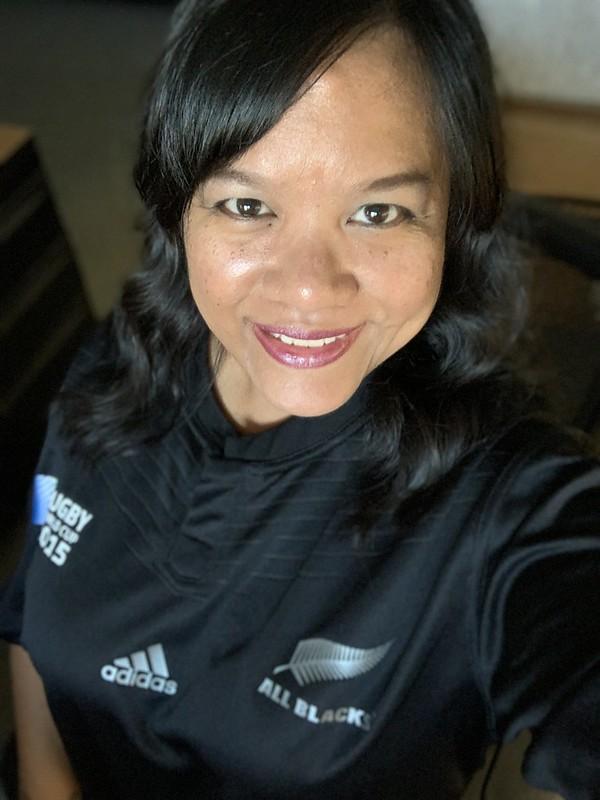 in my All Blacks jersey