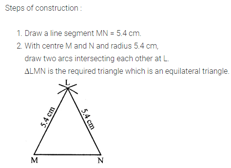 ML Aggarwal Class 7 Solutions for ICSE Maths Chapter 13 Practical Geometry Ex 13 Q6