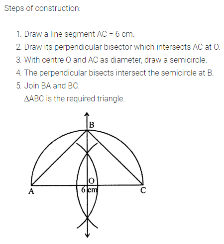 ML Aggarwal Class 7 Solutions for ICSE Maths Chapter 13 Practical Geometry Check Your Progress Q6