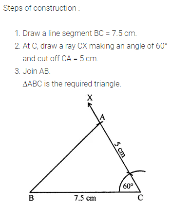 ML Aggarwal Class 7 Solutions for ICSE Maths Chapter 13 Practical Geometry Check Your Progress Q4